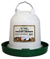 Harris Farms Plastic Poultry Drinker 5 Quart