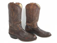 Vintage Stewart Boot Company 1977 Handmade Brown Leather Cowboy Boots 8.5