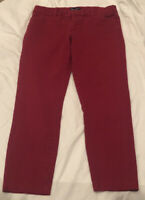 GAP Tailored Crop Stretch SLIM CITY Womens Size 6R Red  Capris PANTS   EUC