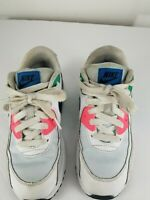Nike Air Max Kids Girls size 2Y color Green/Pink/Black/White Laces Running Shoes