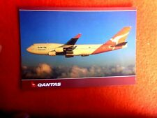QANTAS  BOEING 747-438 VH-OJH POSTCARD AUSTRALEX AUS237
