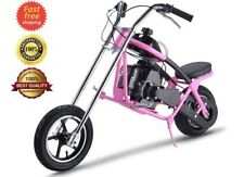 49cc 2 Stroke Air Cooled Gas Motor Mini Chopper Pink Kids Motorcycle For Age 13+