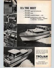 1966 PAPER AD Trojan Motor Boat Yacht 42' Lancaster PA Pennsylvania