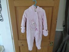 BHS - Bambini - Pink Bunny all in one Snow suit - 6-9mths