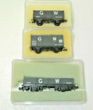3 x Peco N Scale Great Western Goods Wagons