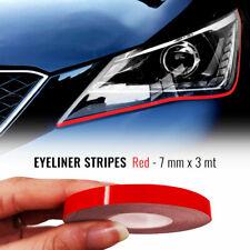 Stripes Strisce Adesive Eyeliner per Fari Auto Rosso 7 mm x 3 mt