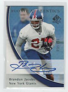 2005 SP Authentic Brandon Jacobs Rookie Autograph #205 058/850 NEW YORK GIANTS