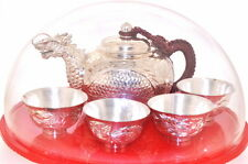 Unique Solid Sterling Silver Teapot sets with Dragon Spout