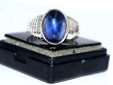 Natural Star Blue Sapphire Gemstone 925 Sterling Silver 11.33 Ct Birthday Ring