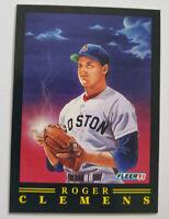 Roger Clemens Fleer 1991 MLB Trading Card #9 of 12 Boston Red Sox