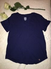 Jane And Bleeker Women's Shirt Navy Short Sleeved V-neck NWT Size M