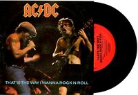 """ACDC AC/DC - THAT'S THE WAY I WANNA ROCK N ROLL - 7""""45 VINYL RECORD PIC SLV 1988"""