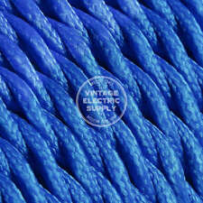 Electric Blue Twisted Cloth Covered Electrical Wire -Braided Rayon Fabric Wire