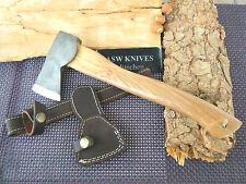 Axt Beil Carbonstahl Beil 30,5 cm ASW KNIVES Beil Olivenholz Griff Handarbeit