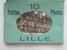 LILLE NORTH FRANCE.MINI PHOTOGRAPH SET,10 DELUX,1930-40 ?.HOTEL DE VILLE.BOURSE
