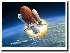 """Endeavour Flight"" (Sml) by Mark Karvon Giclee Print - Space Shuttle Endeavour"