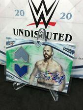 2020 Topps WWE Undisputed Dual Mat Shirt Relic Green #/50 Autograph Cesaro