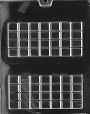 AO072 Break Apart Bar Chocolate Candy Soap Mold with Instructions