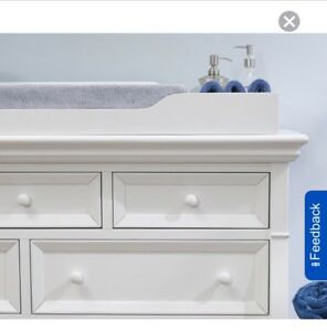 Sorelle Montgomery Changing Topper - White