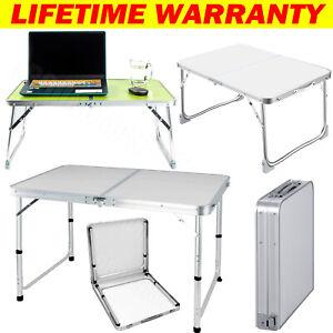 Folding Desk Portable Aluminum Trestle Table Pop-Up Garden Camping Party Picnic