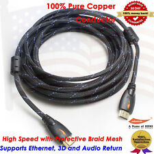 25FT Premium HDMI Cable V1.4 w/Ethernet 3D 4K For Bluray DVD HDTV XBOX LCD HD TV