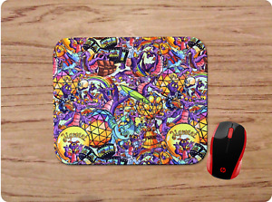FIGMENT PURPLE DRAGON COLLAGE PATTERNED DESIGN CUSTOM MOUSE PAD MAT NONSLIP