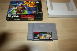 SNES Super Nintendo Scooby Doo Mystery By Acclaim With Original Box
