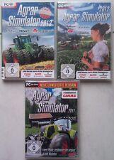 Agrar Simulator 2013 + Agrar 2012 + Agrar 2011 Bauernhof Traktor PC Spiele