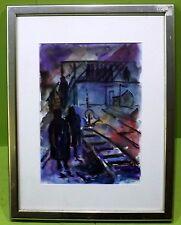 Künstlerische Aquarell-Malereien im Expressionismus