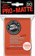 10 x PACKS of Standard sized Ultra Pro PEACH PRO-MATTE Card Sleeves 50ct NEW!