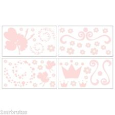 Cocalo Sienna Wall Decals Stickers Girl Nursery Decor Pink Princess Fairy Flower