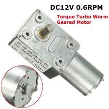 DC 12V Geared Motor 0.6RPM Low Speed High Torque Turbo Worm 370 Right Angle US