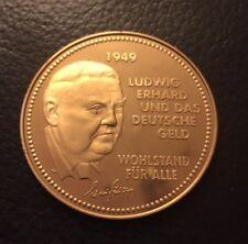 BRD Medaille Ludwig Erhard und Deutsche 1948-2001 Deutsche Währung