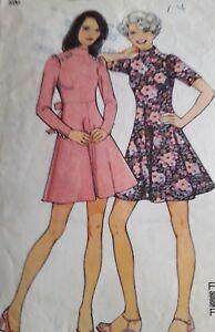 "VINTAGE 1973 DRESSMAKING DRESS - STYLE 4233 SIZE 12 BUST 34"""