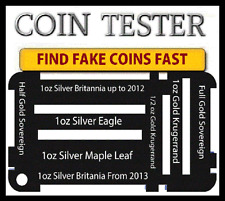 1oz silver eagle maple leaf gold half soveren argent britannia pièce testing kit