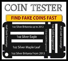 1oz Silver Eagle Maple Leaf Gold half Soveren Silver Britannia Coin Testing  kit