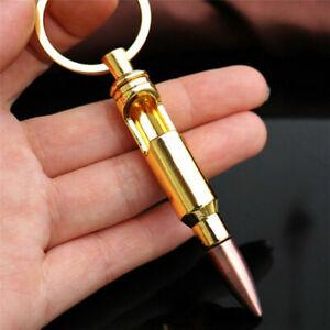 Bullet Shell Shape Bottle Opener Beer Gold Keychain Key Ring Bar Tool SG