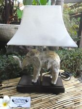 Carved Elephant Table/Feature Lamp - one only