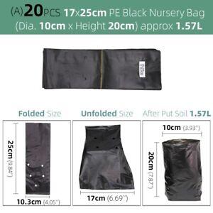 Black Nursery Plant Grow PE Soil Breathable Bags Agriculture Gardening Seedling