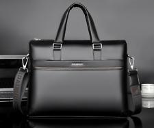 Men's Business Black Leather Briefcase Messenger Laptop Handbag Luxury Bag