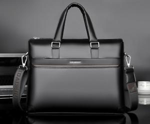Fashion Men's Business Leather Briefcase Messenger Laptop Handbag Luxury Bag