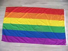 348822   DRAPEAU GAY LESBIENNE  90X150 CM   NEUF AVEC  OEILLET  ARC EN CIEL LGBT