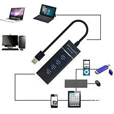 4 PUERTOS USB 3.0 HUB ALTA VELOCIDAD CABLE ALIMENTACIÓN USB MULTIPUERTO PARA PC