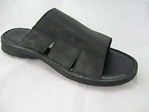 JPSamuels Men's boys  leather black shoes/sandals