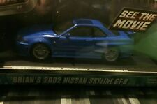 GREENLIGHT 1:43 Fast and Furious - Brian's 2002 Nissan Skyline GT-R - BLUE