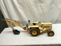 "Ertl 1/12 36"" Vintage 1970's FORD 7500 Backhoe Tractor Metal Toy"
