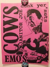 COWS + JANITOR JOE Live in Austin TX (2005) Punk Flyer / Poster Heroine Sheiks