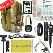 40 in 1 Taktische Notfall Getriebe Militäri Outdoor Camping Überlebensausrüstung