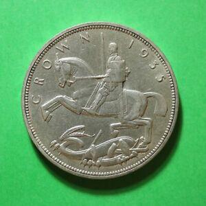 1935 George V Silver Jubilee Silver Five Shilling 5/- Crown SNo48143