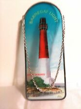 "Sun Catcher, Lighthouse, Barnegat, New Jersey, 11"" H X 4"" W, Hand Painted"